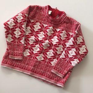 Hanna Anderson Sz 90 (2/3) cotton ski sweater